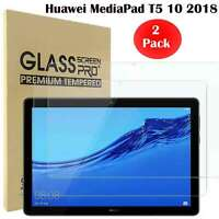 """2 PACK 9H Tempered Glass Screen Protector Cover For Huawei MediaPad T5 10 10.1"""""""