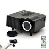 HD 1080P LED Multimedia Projector Home Theater Cinema AV TV VGA HDMI USB SD XI