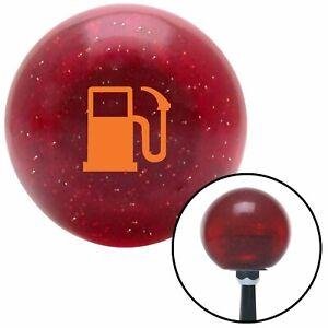 Orange Gas Station Tank Red Metal Flake Shift Knob with 16mm x 1.5 Insert