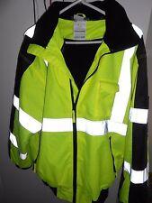 Utility Pro Waterproof CL 3 High-Visibility 3-Season Jacket w/Teflon Lime/Blk 2X