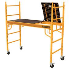 MetalTech Scaffolding Set 1100 lb. Capacity Foldable Anti-Slip Deck Baker Style
