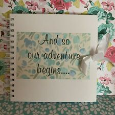 Personalised Scrapbook, Photo album, Engagement Gift, Wedding Gift Our Adventure