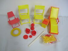 Vintage Arco Doll Furniture Lawn Chairs Camping Gym Scale Weights