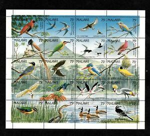 VINTAGE CLASSICS - Malawi - Birds - Sheetlet of Stamps - MNH