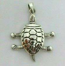 BEST Silver Articulated TURTLE Pendant