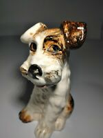 """Vintage Sylvac Pottery TriColored Terrier 5"""" Dog Figurine Lovely & Super Cute"""