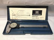 Brown Amp Sharpe 599 579 5 Precision Dial Caliper Withcase Instructions Metalworking
