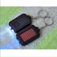Solar Power Mini Portable 3 LED Light Key chain ring Torch Flashlight Safety4BbB