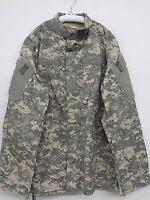 US-Military-COMBAT COAT ACU-Digital-Camo-50-50-Ripstop-Army-USGI-NWOT Med Long