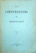 1888 – FRANCESCO PAOLI, LE CONVERSAZIONI DI MONTESANTO – FILOSOFIA ROSMINI