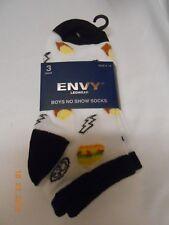 New lot 3 pair boys Envy size 6-8 no show socks Gift free ship school home