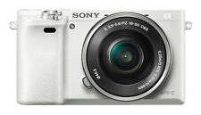 NEW Sony Alpha A6000 24.3MP Digital Camera - White  Kit with 16-50mm Power Zoom