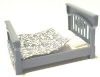 FISHER PRICE DOLLHOUSE BLUE PARENTS MOM DAD BED BEDROOM LOVING FAMILY FURNITURE