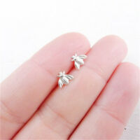 Women  Girls Tiny Bumblebee Honey Bee Insect Kawaii Earrings Pair Studs Jian