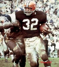 JIM BROWN unsigned 8x10 color photo       GREAT POSE IN CLEVELAND BROWNS UNIFORM