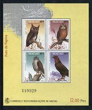 Macau 702b  MNH 1993 Birds: Western Barn Owl Peregrine Falcon Golden Eagl x19009