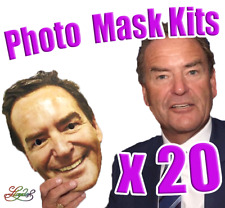 20 x Personalised Photo Face Masks Kits - Birthday Party Fancy Dress Stag Hen