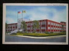 LINEN POSTCARD  USA ARKON - GOODYEAR RESEARCH LABORATORY
