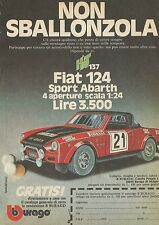 X1273 FIAT 124 Sport Abarth - BBURAGO - Pubblicità 1977 - Advertising