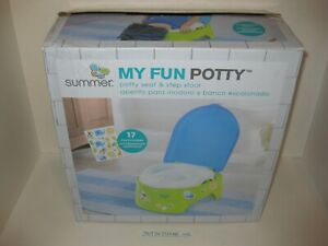 Summer Infant My Fun Potty Baby Toilet Training 3 Stages Blue/Green NEW Open Box