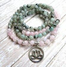 2018 new natural Rose quartz gemstone man Mala Bracelet Buddhist lucky jewelry