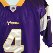 Authentic Reebok On Field Sz 50 Brett Favre #4 Minnesota Vikings Stitched Jersey