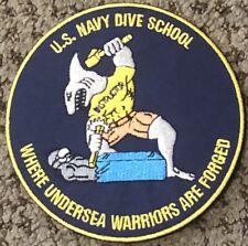 Authentic U. S. Navy Diver Dive School Patch Usn Hooyah!
