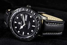 Automático Reloj para hombre Massive edel-acero black-gehäuse SERIE CON DÍA /