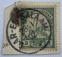 GERMAN EAST AFRICA 3P STAMP WITH 1902 DAR-ES-SALAAM SON CANCEL
