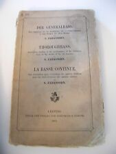 Partition La basse continue S Jodassohn 1901 Music Sheet