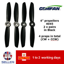 "Gemfan Propellers Props 4"" 4045 x4 2 Pairs Black QAV 180 Racer FPV Emax ZMR UK"