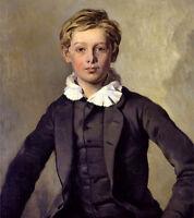 Art Oil painting Ferdinand von Rayski - Portrait of Count Haubold von Einsiedel