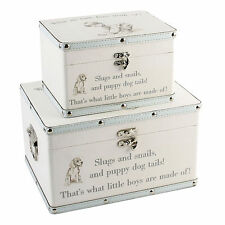 What are Little Boys Made of Two Storage Boxes / keepsake baby trunks gift!