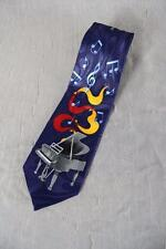 Steven Harris Neck Tie Grand Piano & Music Notes Novelty Tie Blue