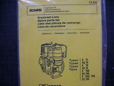 Bomag Engine E ES Spare Parts Manual Book List Catalog