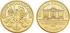 Austria 2006 Philharmonic 10 Euro 1/10 oz Gold BU Coin