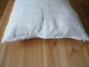 100 % Linen Body Pillow Case Cover Sham Bolster Lumbar Support. White, Gray, etc