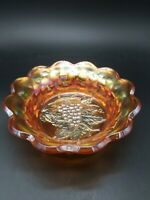 Vintage imperial Heavy Grape Marigold Carnival Glass Bowl. NICE!