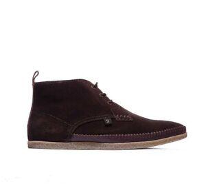 Farah Drape Hi 3-Eyelet Brown Suede Desert Chukka Boots UK Sizes 6 - 12