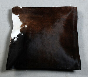 NEW COW HIDE LEATHER CUSHION COVER RUG COW SKIN Cushion Pillow Covers C-6829