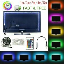 16FT Flexible 5050 RGB LED SMD Strip Light Remote Fairy Lights Room TV Party Bar