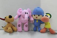 NEW set of 4pcs PRECHOOL POCOYO & Friends Loula Elly Pato Stuffed Plush dolls
