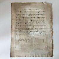 Partitura El Viajero Florian Bandera Frç Música Mcqueen De Autor C.1824