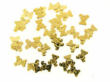 Vintage Gold Plate USA Made Polished Teddy Bear Heart Tummy Insert Findings Lot