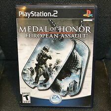 MEDAL OF HONOR EUROPEA N ASSAULT PS2 PLAYSTATION 2 VIDEO GAME SHOOTER