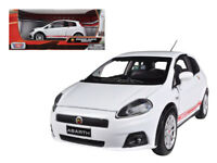 FIAT GRANDE PUNTO ABARTH 1:24 Scale Diecast Car Model Die Cast Miniature White