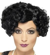 20s Ladies Flirty Flapper Fancy Dress Wig Charleston Wig Black New by Smiffys