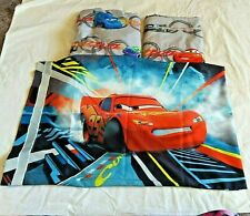 Disney Pixar Cars Movie 3 Piece Twin Sheet Set Fitted Flat Pillowcase Gray