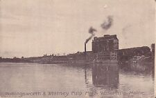 Waterville, Me - Hollingsworth & Whitney Pulp Mills