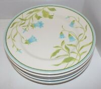 Set of 5 Franciscan Earthenware Blue Bell Dinner Plates 10.5""